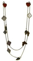 Van Cleef & Arpels 18K Yellow Gold Lucky Alhambra Motif Necklace