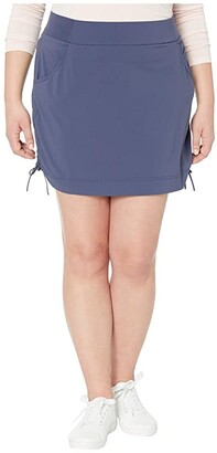 Columbia Plus Size Anytime Casual Skort (Nocturnal) Women's Skort