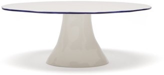 Feldspar - Painted Rim Fine China Cake Stand - Blue White