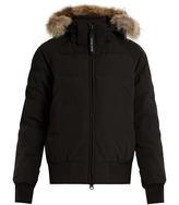 Canada Goose Savona fur-trimmed down-padded bomber jacket
