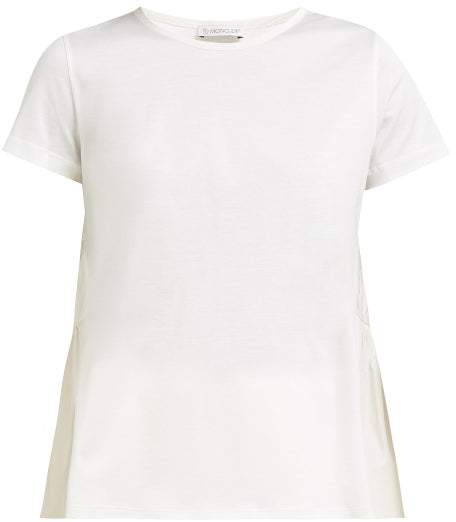 a0962efda Cotton Jersey And Shell T Shirt - Womens - White