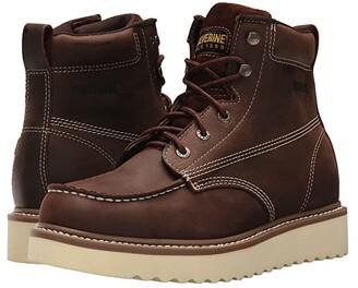 Wolverine Loader 6 Wedge Boot Soft Toe (Brown) Men's Work Boots