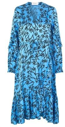 MUNTHE Turquoise V Neckline Justin Dress