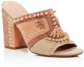 Sigerson Morrison Philip Whipstitch High Heel Slide Sandals