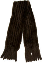 Trilogy Knit Mink Scarf
