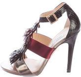 Jimmy Choo Sequin T-Strap Sandals
