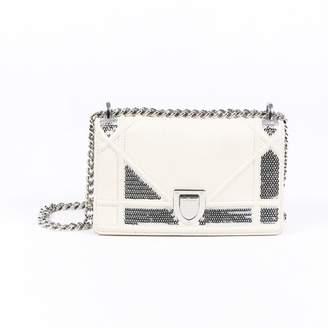 Christian Dior Diorama Ecru Leather Handbags