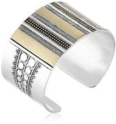 Lucky Brand Two Tone Major Cuff Bracelet