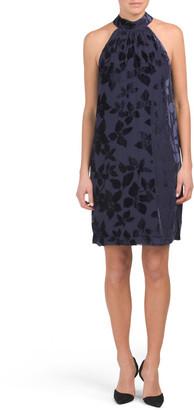 Spree Velvet Burnout Dress