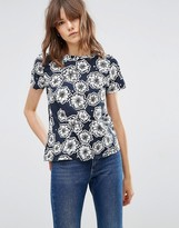 YMC Floral Patterned T-Shirt