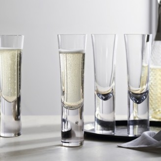 The White Company Stemless Champagne Flutes Set of 4, Clear, One Size