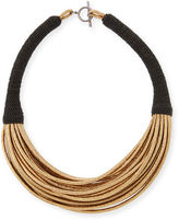 Brunello Cucinelli Monili-Wrapped Leather Choker
