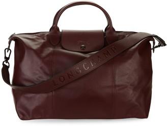 Longchamp Le Pliage Leather Foldable Travel Bag