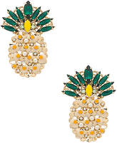 Anton Heunis Pineapple Earring in Metallic Gold.