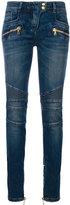 Balmain low-rise biker jeans - women - Cotton/Polyester/Spandex/Elastane - 36