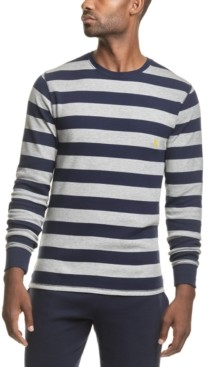Polo Ralph Lauren Men's Rugby-Stripe Waffle-Knit Pajama Shirt