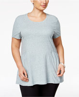 Style and Co Plus Size Peplum Top, Only at Macy's