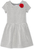 Epic Threads Little Girls' Heart Double-Knit Dress, Only at Macy's