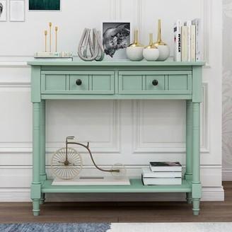 """Rosalind Wheeler Camden 35"""" Console Table Color: Retro blue"""