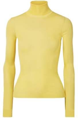 Calvin Klein Ribbed Silk Turtleneck Sweater