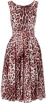 Samantha Sung leopard print belted dress