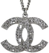 Chanel Coco Mark Silver Tone Hardware Necklace