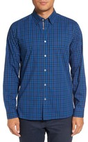 Ted Baker Murcia Trim Fit Plaid Sport Shirt