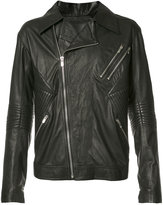 Skingraft Ribbed Moto Jacket - men - Leather - S