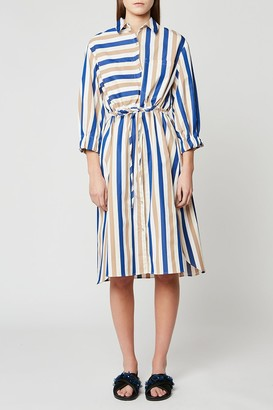 Paul & Joe Sister Striped Poplin Midi Shirt Dress