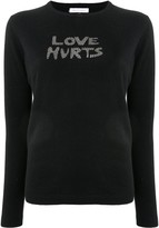 Bella Freud Love Hurts studded jumper