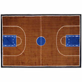 Asstd National Brand Basketball Court-Supreme Rectangular Rugs