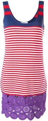 Prada Pre Owned 1990's Striped Knitted Dress