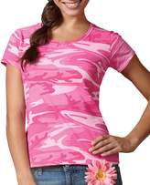 Code V Ladies' Fine Cotton Jersey Camouflage T-Shirt (2X-Large)
