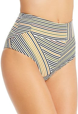 L-Space Portia Electric Palm High-Waist Bikini Bottom