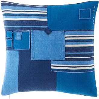 "Ralph Lauren Home Stover Patchwork Pillow, 16"" x 24"""