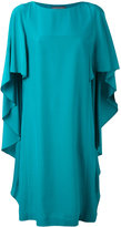 Alberta Ferretti waterfall sleeve dress - women - Silk - 40
