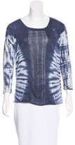 Raquel Allegra Long Sleeve Tie-Dye Top