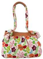 Longchamp Leather-Trimmed Floral Tote