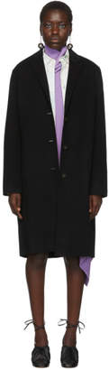 Acne Studios Black Wool Avalon Double Coat