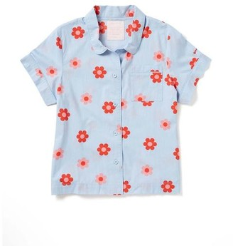 ban.do Retro Daisy Short Sleeve Sleep Top - Extra Small