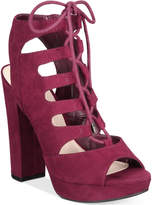 Bar III Nelly Lace-Up Block-Heel Platform Sandals, Created for Macy's