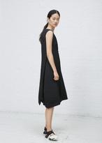 Issey Miyake black stream pleats dress