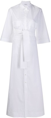 P.A.R.O.S.H. Tie-Waist Shirt Dress