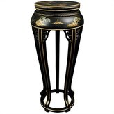 Oriental Furniture Eclectic Furniture and Decor 36-Inch Ming Lacquer Oriental Plant Stand/Tall Side Table