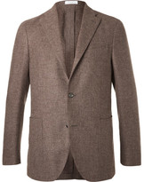 Boglioli Brown Slim-fit Wool, Cotton And Cashmere-blend Blazer - Brown