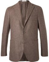 Boglioli Brown Slim-Fit Wool, Cotton and Cashmere-Blend Blazer