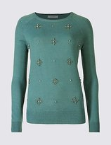 Classic Beaded Round Neck Jumper