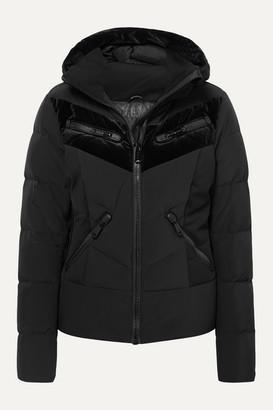 Goldbergh Idunn Hooded Velvet-paneled Quilted Down Ski Jacket - Black