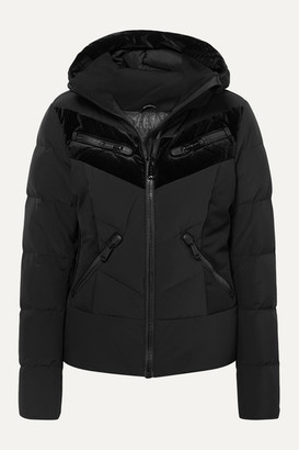 Goldbergh Idunn Hooded Velvet-paneled Quilted Down Ski Jacket