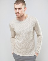 Selected Knitted Sweater with Melange Detail